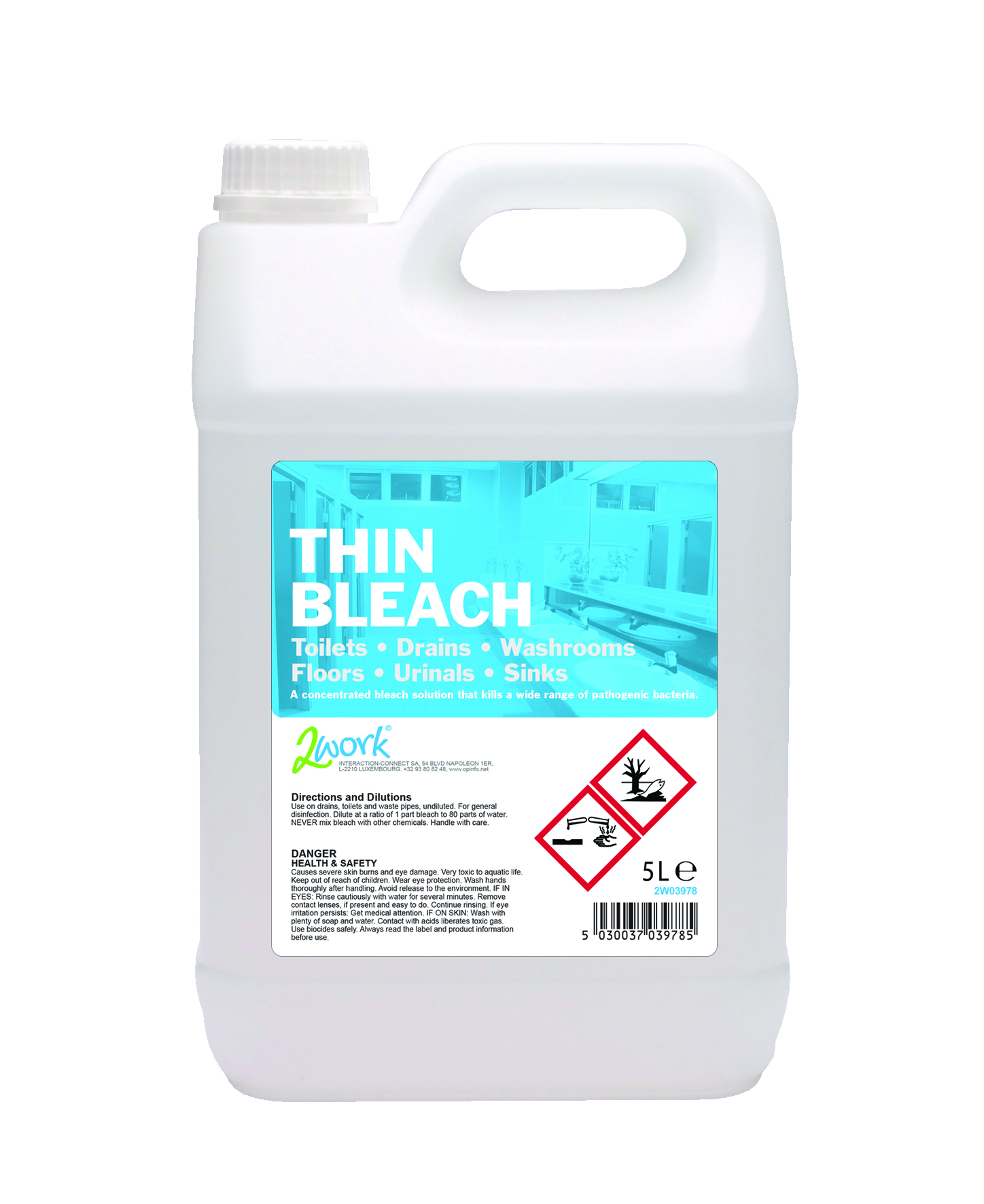 Do different dilutions of disinfectants affect the development of - 2work Thin Bleach 5lt
