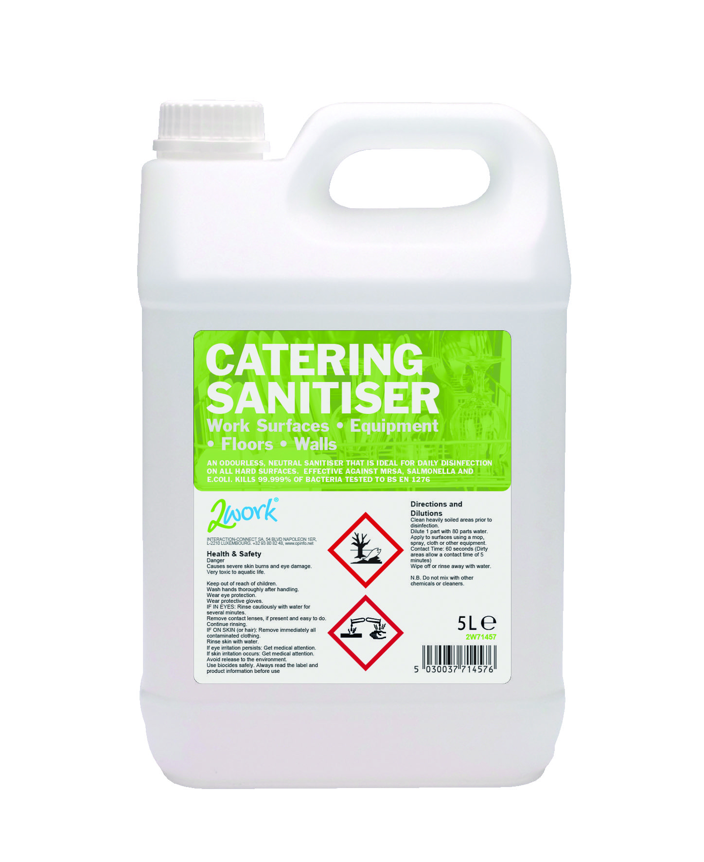 Do different dilutions of disinfectants affect the development of - 2work Catering Sanitiser 5lt